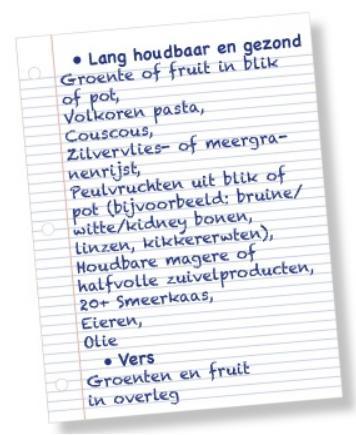 lijst voedselbank